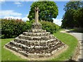 SP2923 : Wayside cross, Sarsden by Philip Halling