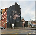 SJ8498 : Mural on Addington Street by Gerald England