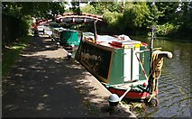 SK5803 : Narrowboats moored on the Grand Union Canal by Mat Fascione