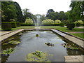 TR2236 : Ornamental pond in Kingsnorth Gardens by Marathon