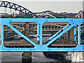 NZ2463 : Tyne bridges in Newcastle city centre by Thomas Nugent
