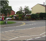 ST3090 : Queen Elizabeth II postbox and Royal Mail drop box on a Malpas corner, Newport by Jaggery