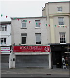 SS9079 : Rygbi Tackle shop in Bridgend town centre by Jaggery