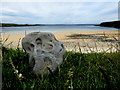 G7170 : Carved stone, St John's Point by Kenneth  Allen