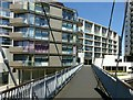 SK5739 : Footbridge at Nottingham One by Alan Murray-Rust