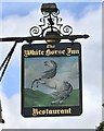 TQ2716 : The sign of The White Horse Inn by David Lally