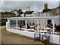 SW4729 : Café at the Jubilee Pool, Penzance by Robin Drayton