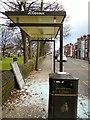 SJ9391 : Vandalised Bus Shelter by Gerald England