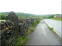 SE1025 : Lister's Road at the guide stone, Halifax by Humphrey Bolton