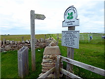 NU1341 : National Trust Sign: Lindisfarne Castle by PAUL FARMER