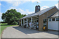 TL4257 : Queens' College Sports Pavilion by John Sutton
