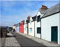 HU4039 : Colourful New Street, Scalloway by Des Blenkinsopp