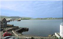HU4039 : Scalloway Harbour by Des Blenkinsopp