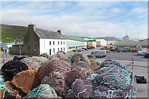 HU4039 : Nets at Scalloway Docks by Des Blenkinsopp