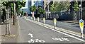 J3374 : Two-way cycle lane, Durham Street, Belfast (June 2017) by Albert Bridge