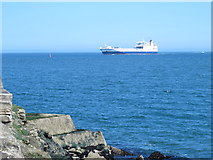 NZ5528 : Ship off South Gare by Mike Quinn