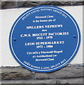 ST2077 : Blue plaque on a Vale Road wall, Splott, Cardiff by Jaggery