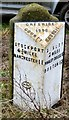 SJ9485 :  Milestone at High Lane by Gerald England