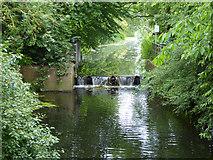 TM0855 : Tilting weir at former Needham Lock by Robin Webster