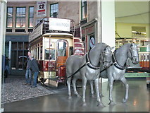 NS5565 : Horse Drawn tram to Dalmarnock by M J Richardson