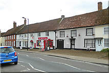 TM0855 : Needham Market High Street - row with Post Office by Robin Webster