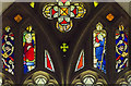 TF3866 : East window detail, St Mary's church, Hundleby by Julian P Guffogg
