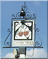 TG0702 : Sign for the Cherry Tree, Wicklewood by JThomas