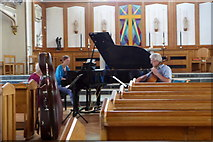 SW4730 : Rehearsal in St. Mary's Church, Penzance by pam fray
