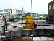 TR3140 : Construction site, quay beside Wellington Dock by John Baker