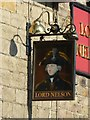 SK3447 : Lord Nelson Inn sign by Alan Murray-Rust