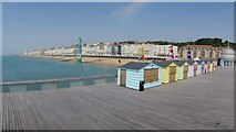 TQ8109 : Sheds on Hastings Pier by Oast House Archive