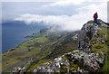 NG5739 : On Dun Caan summit by Ian Taylor