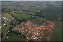 SP7047 : Development site opposite Towcester Racecourse: aerial 2017 by Chris