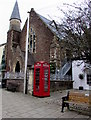 SO3700 : Grade II listed phonebox, Twyn Square, Usk by Jaggery