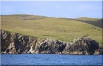 HU4962 : Cliffs near Levaneap by Des Blenkinsopp