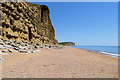 SY4789 : Cliff near Burton Freshwater by David Dixon