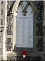 TM4362 : Leiston War Memorial on the cemetery chapel by Adrian S Pye