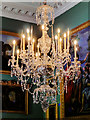 ST7734 : Chandelier in the Picture Gallery at Stourhead House by David Dixon