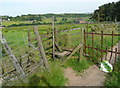 SE0529 : Stile on Halifax Footpaths 72 and 82, Mixenden by Humphrey Bolton