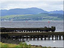 NS3174 : Old shipyard crane rails by Thomas Nugent
