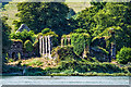 X0882 : Molana Abbey from the east bank of the River Blackwater by Mike Searle