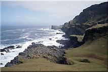 NR3596 : Looking north-east along the Colonsay coast near Druim nam Faoileann by Julian Paren