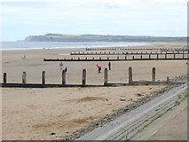 NZ6124 : Groynes on the eastern beach at Redcar by Oliver Dixon