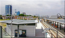 TQ4380 : King George V station, DLR westward 2006 by Ben Brooksbank