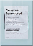 SM9537 : Closure notice on the former HSBC bank, 18 West Street, Fishguard, Pembs by P L Chadwick