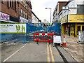 SJ8990 : Prince's Street closed by Gerald England
