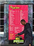 ST5973 : Wall-sized pizza menu, The Full Moon, North Street, Bristol by Robin Stott