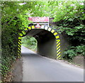 ST9898 : West side of a railway bridge north of Kemble by Jaggery