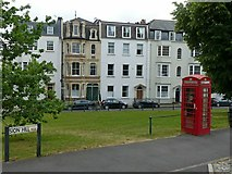ST5673 : Houses and telephone kiosk, Sion Hill by Alan Murray-Rust