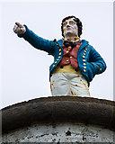 X5698 : The Metal Man pillars, Newtown Head, Tramore (4) by Mike Searle